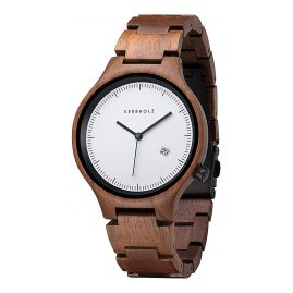 Kerbholz Lamprecht Date Walnuss Holz-Armbanduhr