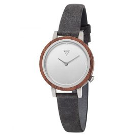 Kerbholz Ladies Wooden Watch Luise Walnut Asphalt