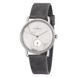 Kerbholz Ladies' Watch Frida White Marble/Asphalt