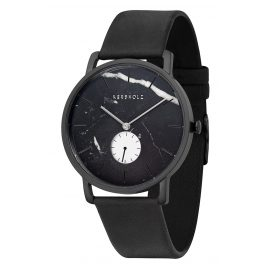 Kerbholz Men's Watch Fritz Black Marble/Midnight Black