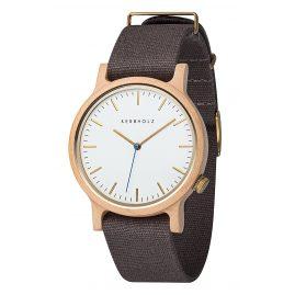 Kerbholz Herren-Armbanduhr Walter Ahorn/Dunkelgrau