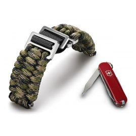Victorinox 60023 I.N.O.X Paracord Bracelet Green Camouflage