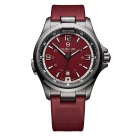 Victorinox 241717 Night Vision Black Ice Herrenuhr Rot
