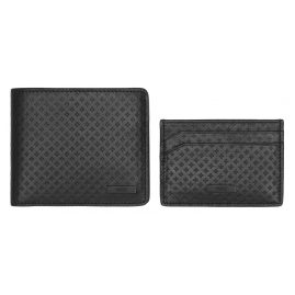 Hugo 50328001 Mens Wallet Set Black