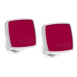 Hugo 50323072-615 E-Stain Cufflinks Medium Red