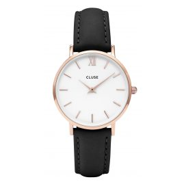 Cluse CL30003 Minuit Rose Gold White/Black Damenuhr