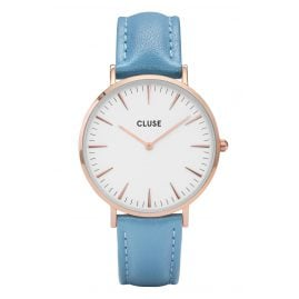 Cluse CL18033 Damenuhr La Bohème Rose Gold White/Retro Blue