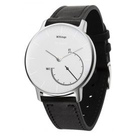 Withings HWA01 Activité Steel White Inflight with aditional Silicone Strap