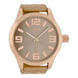 Oozoo C1101 Mens Watch XXL Sand/Rose