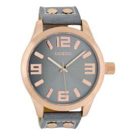 Oozoo C1154 Armbanduhr XL Blaugrau 46 mm