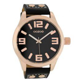 Oozoo C1159 XL Armbanduhr Schwarz/Roségold 46 mm