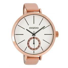 Oozoo C8316 XL Damenuhr Puderrosa/Weiß 48 mm