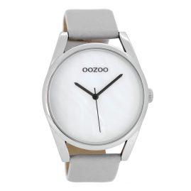 Oozoo C8395 Damenuhr Hellgrau/Weiß 42 mm