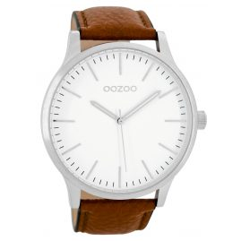 Oozoo C8535 Wrist Watch Unisex Size Cognac 48 mm