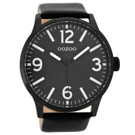 Oozoo C8574 Wrist Watch XL Black 50 mm
