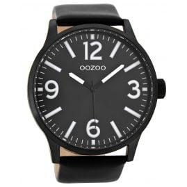 Oozoo C8574 Armbanduhr XL Schwarz 50 mm
