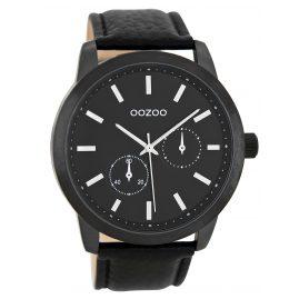 Oozoo C8579 Mens Wrist Watch with Chrono Look Black 47 mm