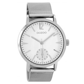 Oozoo C8610 Damen-Armbanduhr Silberfarben 40 mm
