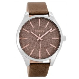 Oozoo C8623 Ladies Watch with Leather Strap Taupe 42 mm