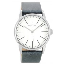 Oozoo C8682 Ladies Watch with Leather Strap Aquagrey 40 mm