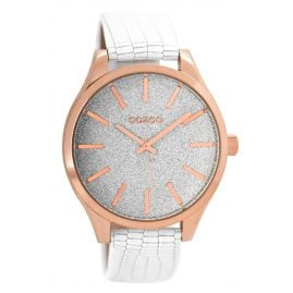 Oozoo C8788 Wrist Watch for Ladies White 42,5 mm