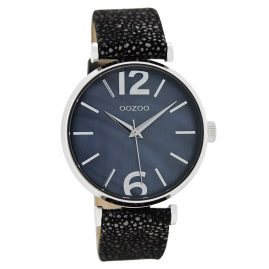 Oozoo C8919 Ladies Wrist Watch Sparkling Black 40 mm