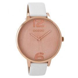 Oozoo C8926 Damen-Armbanduhr Weiß/Roségold 42 mm