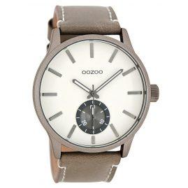 Oozoo C9080 XL Herrenuhr Taupe/Weiß 45 mm