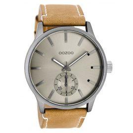 Oozoo C9081 XL Herrenarmbanduhr Sand/Grau 45 mm