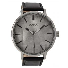 Oozoo C9003 Herren-Armbanduhr Schwarz/Grau 48 mm