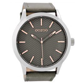 Oozoo C9010 XL Herrenuhr Steingrau/Rosé 50 mm