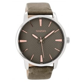 Oozoo C9023 Ladies Watch Greygreen/Rose 45 mm