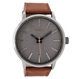 Oozoo C9025 Mens Watch Cognac/Light Grey 50 mm
