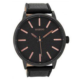 Oozoo C9029 Herren-Armbanduhr Schwarz/Rosé 50 mm