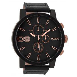 Oozoo C9034 Herrenuhr im Chrono-Look Schwarz/Rosé 50 mm