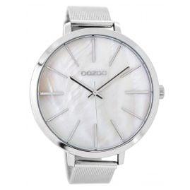 Oozoo C9110 Damenuhr Silber/Perlweiß 48 mm