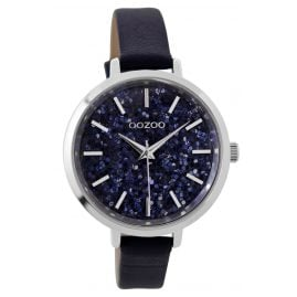 Oozoo C9220 Ladies Watch Glitter Dark Blue 39 mm