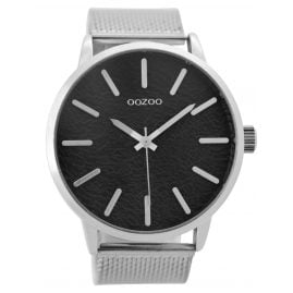 Oozoo C9231 Herren-Armbanduhr Silber/Schwarz 49 mm