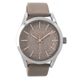 Oozoo C9473 Ladies Watch with Leather Strap taupe 43 mm