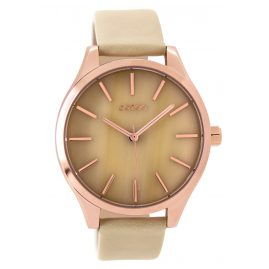 Oozoo C9500 Ladies Watch with Leather Strap rose/sand 42 mm