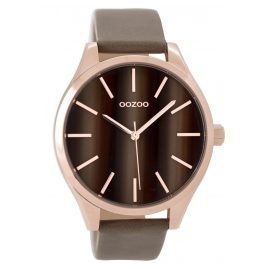 Oozoo C9501 Ladies Watch with Leather Strap rose/taupe 42 mm