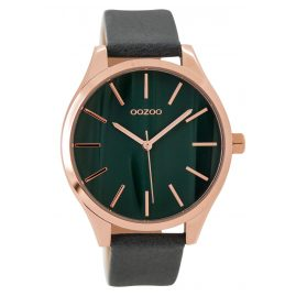 Oozoo C9503 Ladies Watch with Leather Strap rose/grey 42 mm