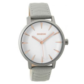 Oozoo C9506 Ladies Watch with Leather Strap grey 40 mm
