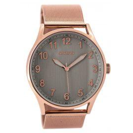 Oozoo C9516 Armbanduhr mit Milanaiseband rosé/taupe 42 mm