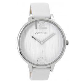 Oozoo C9530 Damenuhr Weiß/Silberfarben 42 mm
