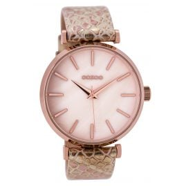 Oozoo C9536 Ladies Watch Whitepink Snake/Rose 41 mm