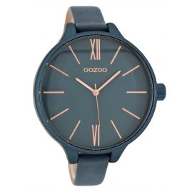 Oozoo C9544 Damenarmbanduhr Graublau/Rosé XXL 45 mm