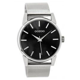 Oozoo C9550 Damenuhr mit Milanaiseband Silberfarben/Schwarz 38 mm