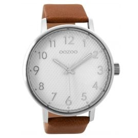 Oozoo C9401 Wrist Watch Brown/White XL 48 mm