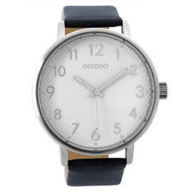 Oozoo C9402 Armbanduhr Dunkelblau/Weiß XL 48 mm